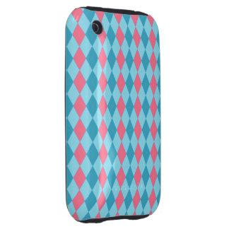Argyle Pink Blue Tough iPhone 3 Case