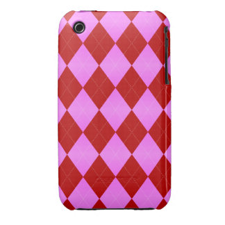 Argyle Pink-Red iPhone 3g/3gs Cases iPhone 3 Case