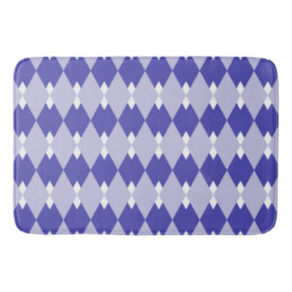 Argyle Plaid Pattern_4A46B0 Bath Mat