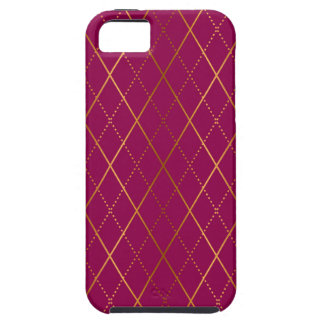 Argyle Plum Case For The iPhone 5