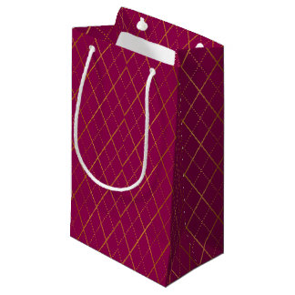 Argyle (Plum) Small Gift Bag
