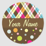 Argyle Polka Dots Stickers
