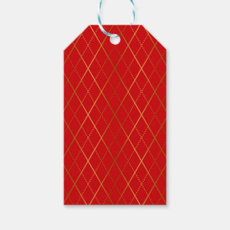 Argyle (Red) Gift Tags