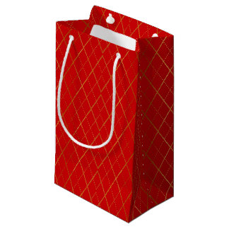 Argyle (Red) Small Gift Bag