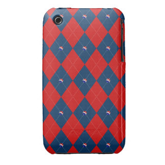Argyle, Red, White and Blue-iPhone 3g/3gs Case Case-Mate iPhone 3 Cases