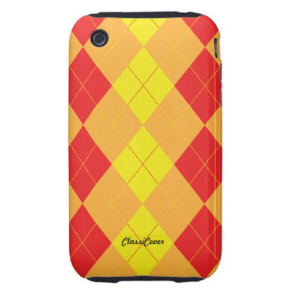 Argyle Red Yellow Case Mate iPhone 3 Tough Cases