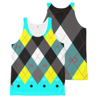 Argyle Revisited 7 All-Over Print Tank Top