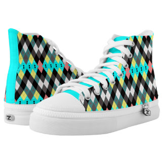 Argyle Revisited 7 High Tops