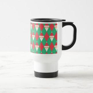Argyle Santa Pattern Coffee Mug