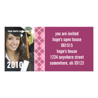Argyle Senior Pictures 2010 Graduation Invitation Personalized Photo Card