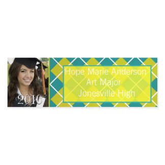 Argyle Senior Pictures Senior Profile Card Business Card