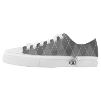 Argyle Shades of Grey Low Tops