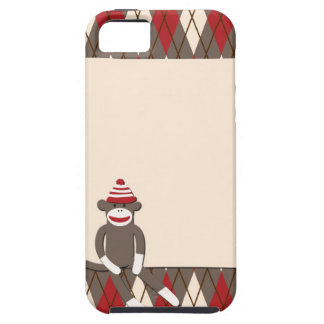 Argyle Sock Monkey iPhone 5 Case