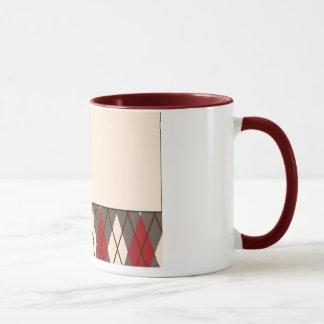 Argyle Sock Monkey Mug