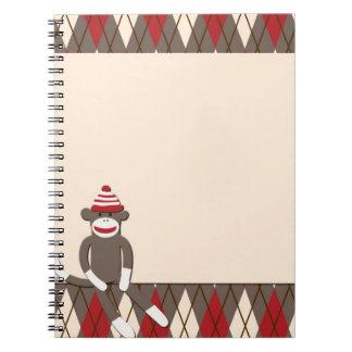 Argyle Sock Monkey Notebook