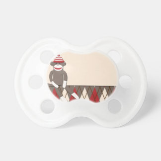 Argyle Sock Monkey Pacifier