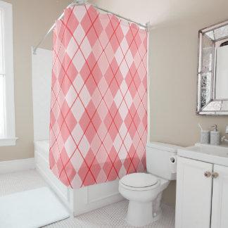 Argyle-Spring-Peach(c) Timeless-Decor_ Shower Curtain