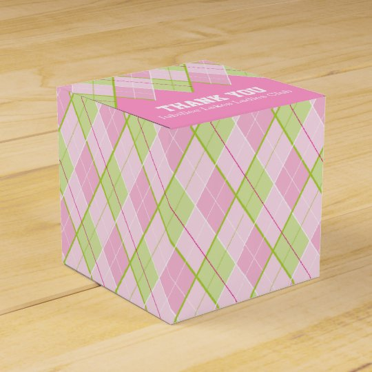 Argyle style pink ladies thank you golf gift