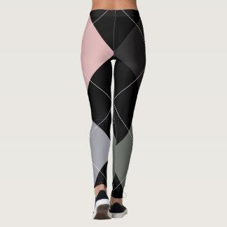 Argyle Textile Pattern Leggings 01 Big