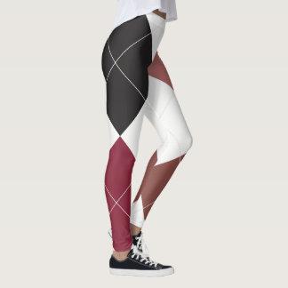 Argyle Textile Pattern Leggings 02 Big