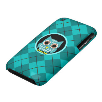 argyle with owl iPhone 3 Case-Mate case