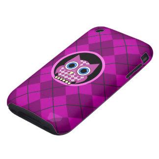 argyle with owl iPhone 3 tough case