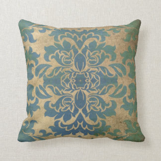 Arhaic Blue Vintage Pillow