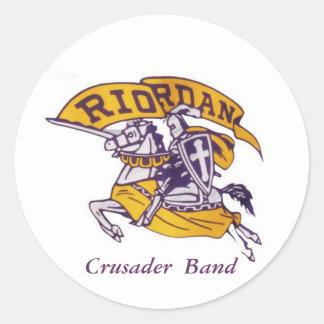 ARHS Crusader  Band 3 inch round stickers