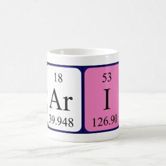 Ari periodic table name mug