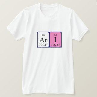 Ari periodic table name shirt