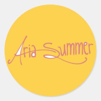Aria Summer Logo Sticket Round Sticker