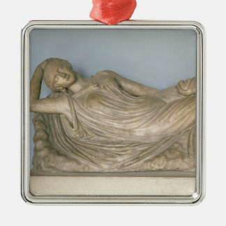 Ariadne Asleep, Hellenistic from Alexandria, 2nd c Christmas Ornament