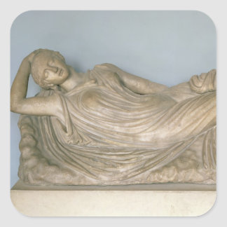 Ariadne Asleep, Hellenistic from Alexandria, 2nd c Square Sticker