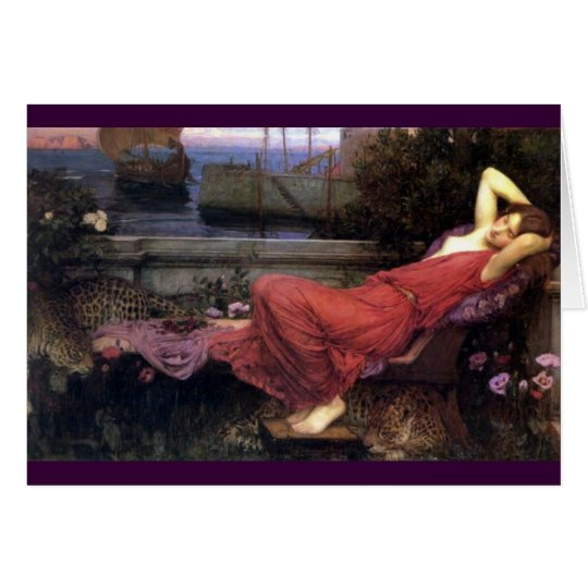 Ariadne Reclining on a Couch Card