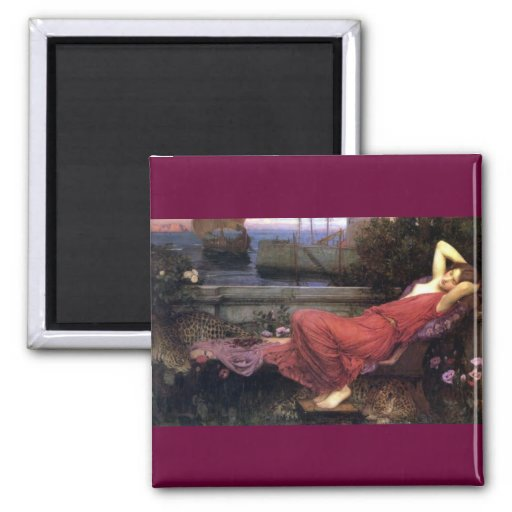 Ariadne Reclining on a Couch Magnet