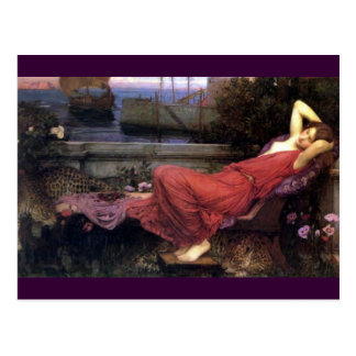 Ariadne Reclining on a Couch Postcard