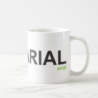 Arial Font Mug