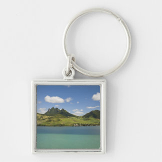 Arial view of Lion Mountain, South East Silver-Colored Square Key Ring