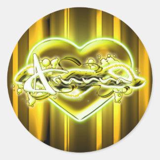 Arianna Round Sticker