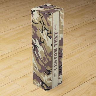 Arid Brown Camo w/ Custom Text Wine Box