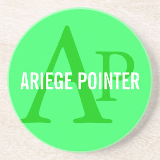 Ariege Pointer Breed Monogram Drink Coaster