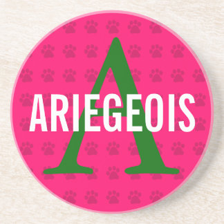 Ariegeois Breed Monogram Beverage Coasters