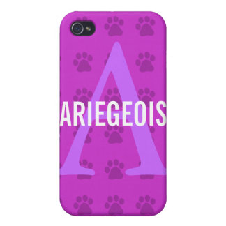 Ariegeois Breed Monogram iPhone 4 Cases