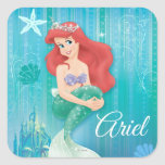Ariel and Castle Square Stickers