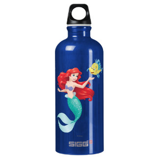 Ariel and Flounder Water Bottle