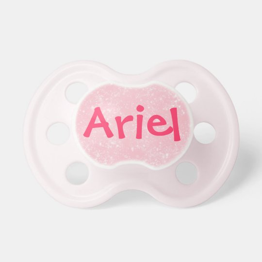 """Ariel"" Personalised Name Pink Glitter Pacifier"