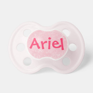 """Ariel"" Personalized Name Pink Glitter Pacifier"