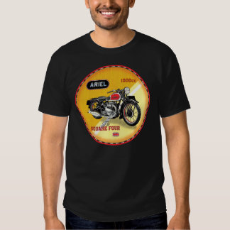 Ariel square four vintage motorcycle tee shirts