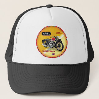 Ariel square four vintage motorcycle trucker hat