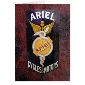 ARIEL VINTAGE MOTORCYCLE ADVERTISING. CARD